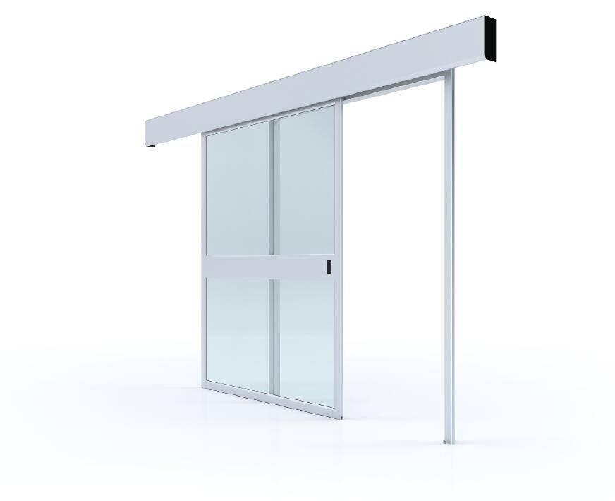 Glass airtight automatic door
