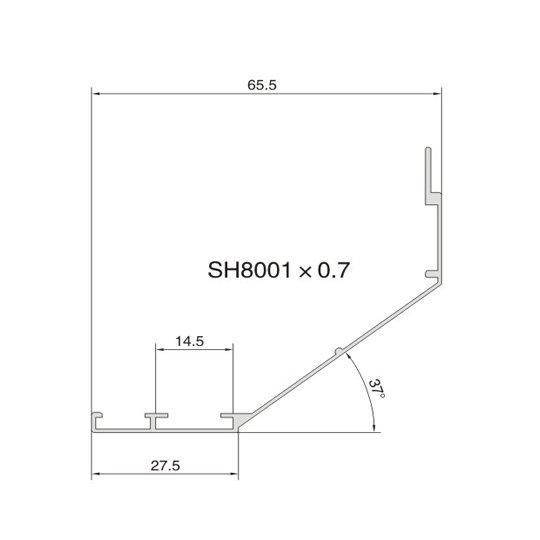 SH8001 AIR DIFFUSER PROFILE