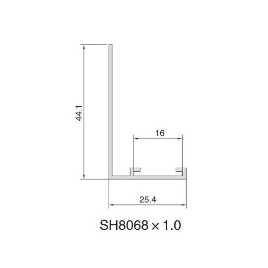 SH8068 AIR DIFFUSER PROFILE